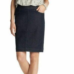 LOFT denim pencil skirt, NWT, size 00P